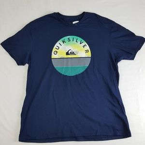 Quiksilver Mens T-Shirt Size XL Blue D40